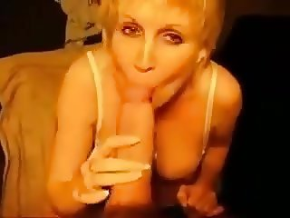 Cheating british milf sucking my big fat cock!