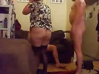 Amateur swinging Bbw squirting on a bbc