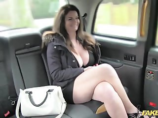 Fake Taxi big tits and sexy eyes takes cock