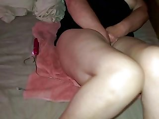 wife masturbating and cumming with dildo