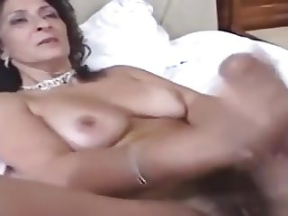 Brazilian cougar gets cock