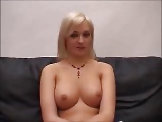 Busty young Angell gets tight holes fucked by casting agents