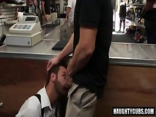 Shaved gay public sex with cumshot