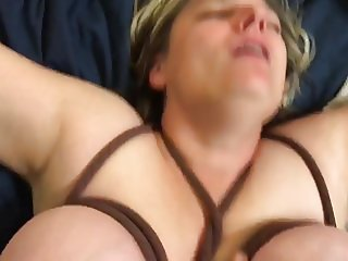 Tied tits bounce