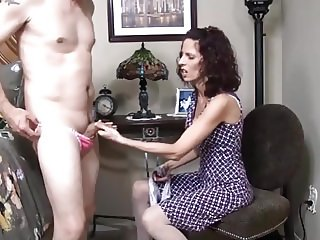 Mom Makes Me Cum In Her Panties