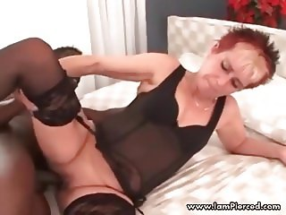 I am Pierced granny with pussy piercings interracial anal