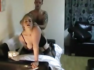 British busty wife stockings sextape homemade