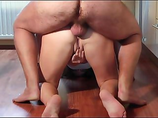 Pissing in Ass off Wife