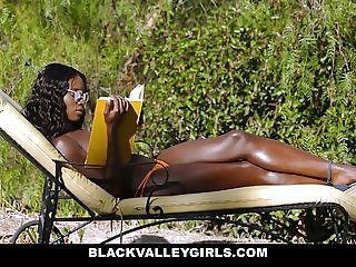 BlackValleyGirls- Beautiful Ana Foxx Fucked By Pool Boy