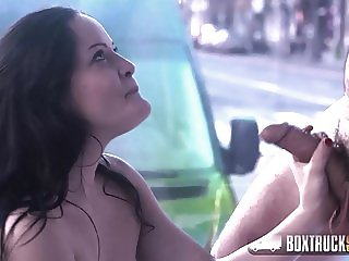 Hot Dolly Diore Confesses she's Turned on by our Sex Truck