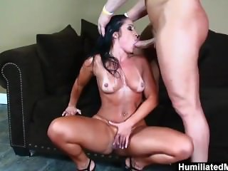 HumiliatedMilfs - She makes this stud rock hard for an anal fuck.