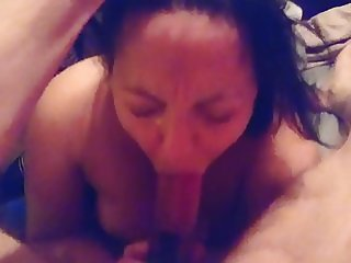 British slut wife face fucked and sucking cock