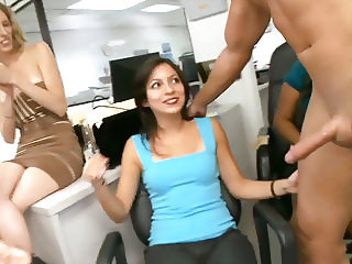 Birthday Party In Office With Male Strippers