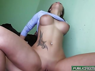 Public Pick Ups - Hot Chick with Huge Boobs starring Barbara