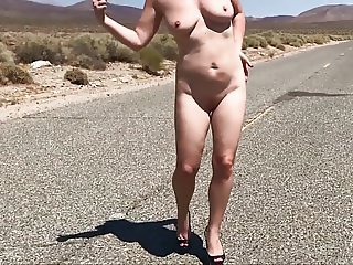 Sexy Wife Flashing in West America