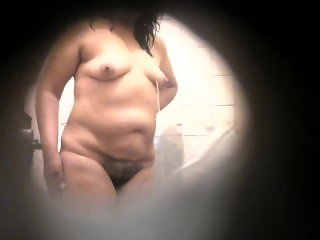 My aunt Mercedes in the shower