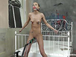 Submissed.com Helpless Sarah Kay gets nipple punished