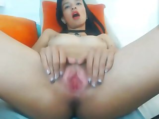 beautifull girl from Bogota - her strong orgasm contractions