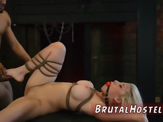 Bondage fucking with pussy clamps and