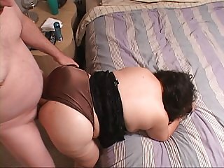 Mexican Granny BBW Gets Butt Fucked