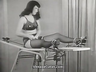 Beautiful Brunette Escapes Her Chains (1950s Vintage)