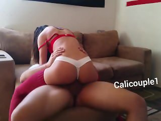 Sexy Girlfriend Riding Hard