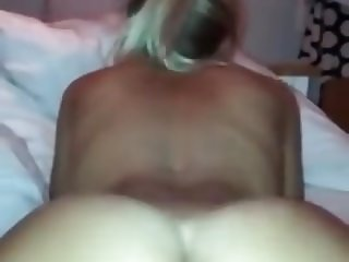 Blonde riding dick