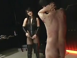 Male slave bound and whipped