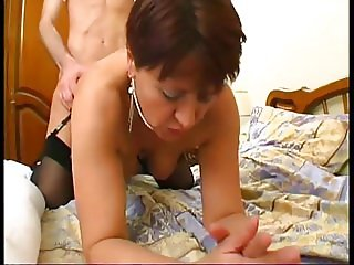 French mature ISabelle fucked in stockings