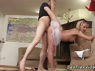 flexi ballerina bending and gagging