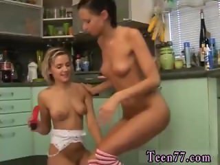 Young slim ebony teen hot lesbian threesome