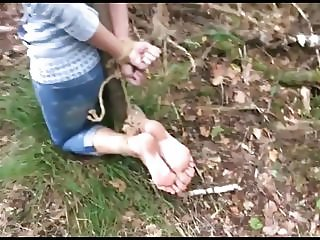 Bastinado Foot Torture In The Forest