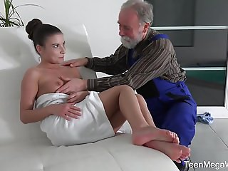 TeenMegaWorld -Old n Young- Old man cums into a fresh mouth