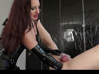 Mistress fucks her slave with a huge strapon