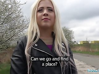 Public Agent Cute Russian Teen Blonde Fucked on Wasteland