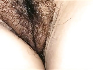 Hairy pussy and big tits wife peeped and groped