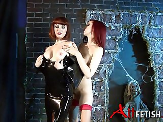 Angela Ryan and Emily Marilyn Latex Play