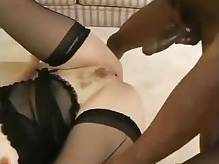 Fat Ass Whore Takes BBC Creampie