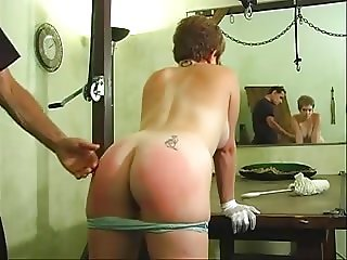 cute woman taking an erotic ass whipping