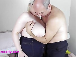 Sally receives a big tit massage