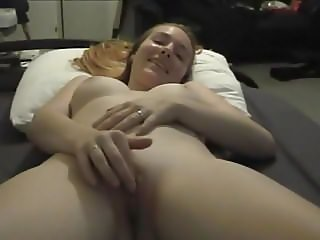 I film my young student who strokes her pussy