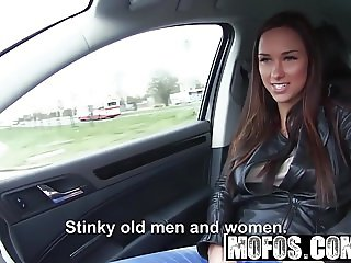 Mofos - Stranded Teens - Brunette Gets in a Strangers Car st
