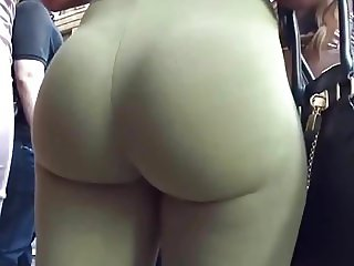PHAT ASS IN GREEN SPANDEX