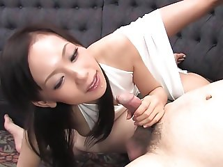 Skinny Asian girl makes her man cum