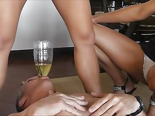 Slave swallow piss