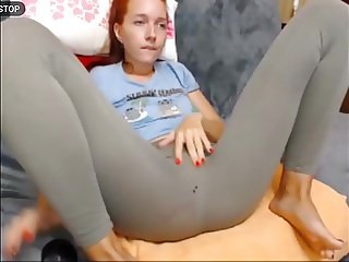 Pussy squirting on beautiful feet