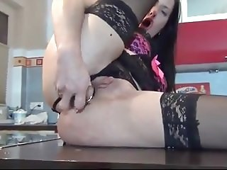 Milf Gaping on Kitchen
