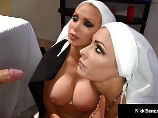 Penthouse Pet Nikki Benz & Jessica Jaymes Nun Fucking? WTF!