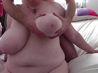 English Mature Granny and her Huge saggy tits 2