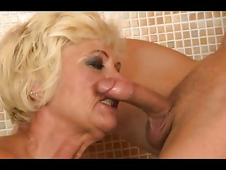 Hairy Granny In Bathtub